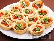 Тарталети с маслини и синьо сирене